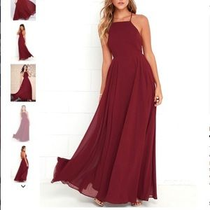 Lulus wine red maxi dress